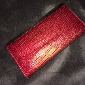 Handbags - Red croc print clutch/wallet